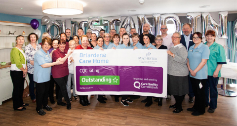 'Outstanding' Result for Barchester's Briardene Care Home