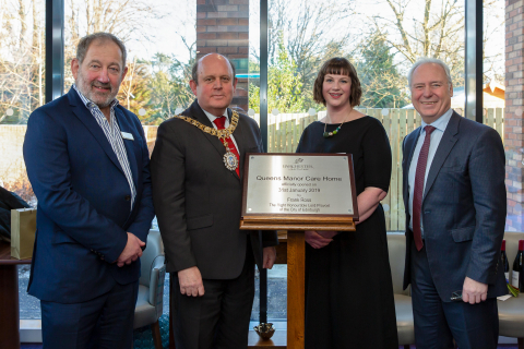Lord Lieutenant of Edinburgh Unveils Newly Built Queens Manor Care Home