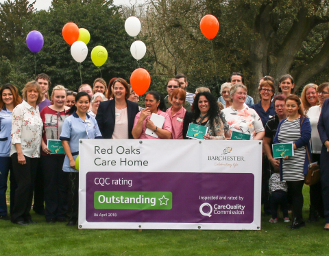 'Outstanding' Result For Barchester's Red Oaks Care Home