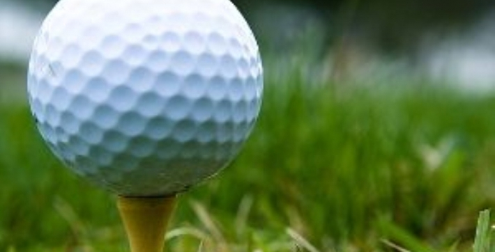 Zoomed in photo of a Golf Ball