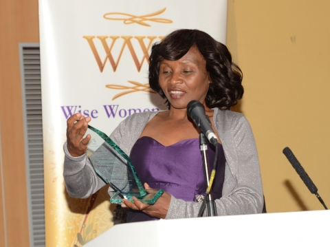 Chipema with the award