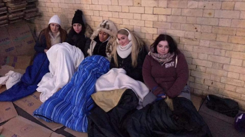 Care home raises money for the homeless as manager sleeps rough for the night
