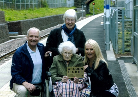 Peggy wins 'Golden Ticket' for new Borders Railway