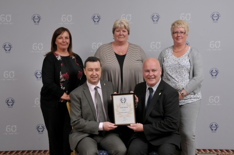 Health and Safety Team with Gold Award