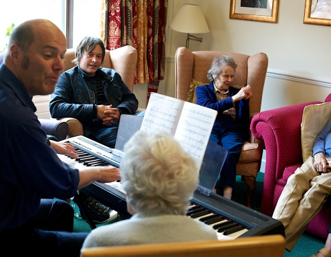 Residents play a bitter sweet symphony at Adlington Manor care home