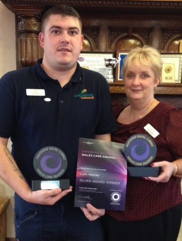 Rhyl care home worker scoops two national awards