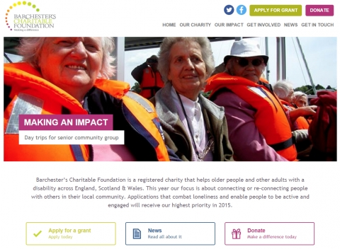Barchester's Charitable Foundation launches new website