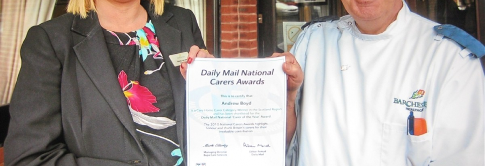 Care worker recognised for dedication in national award