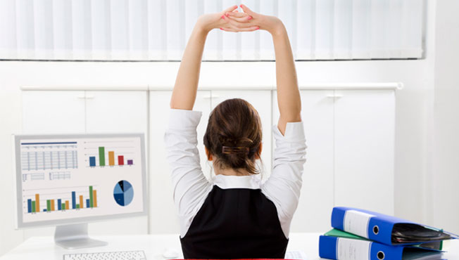 How To Relieve Tension At Your Desk Caba The Charity