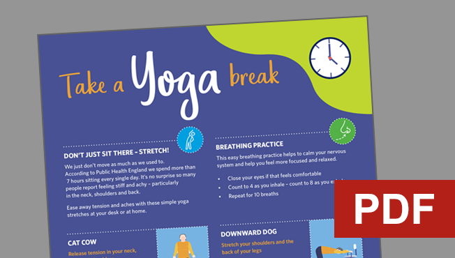 Take a yoga break