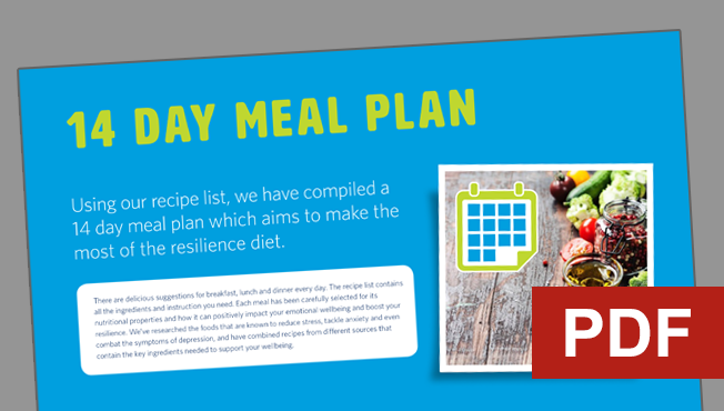 Resilience diet - 14 day meal plan