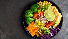 Colourful plate of food