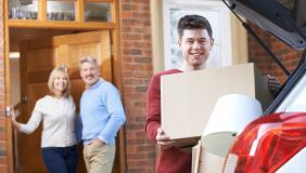 Adult son moving out of parents home