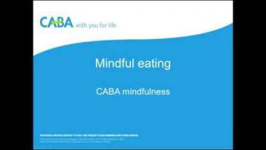 CABA mindfulness - Mindful eating