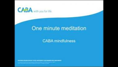 CABA mindfulness - One minute meditation