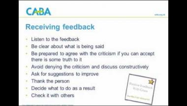 How to deal positively with feedback webinar