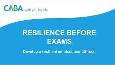 Resilience before exams