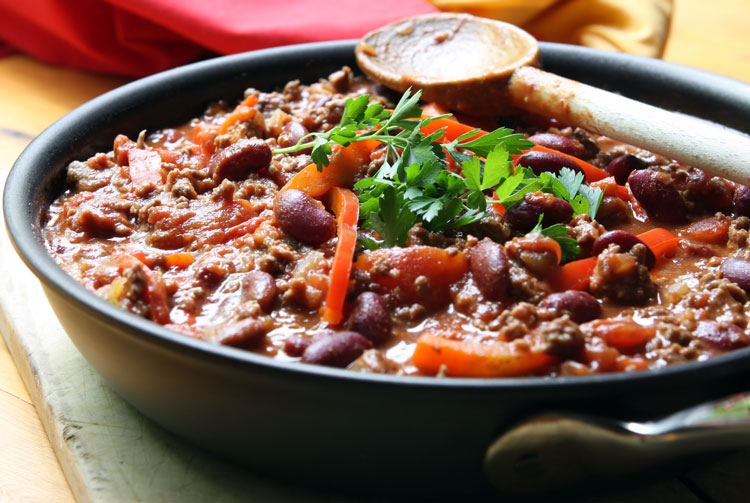 Vegetarian Recipes - Roasted Pepper and Bean Chilli