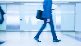Return to work - business person walking