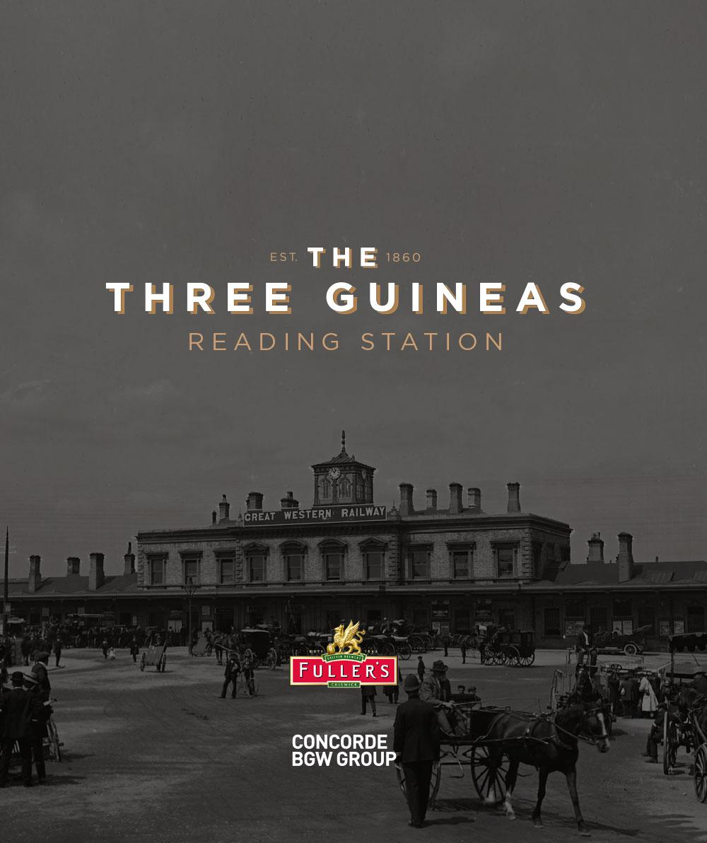 The Three Guineas Reading Station Concorde