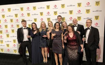 Creaseys team at Best Company to Work For awards 2019