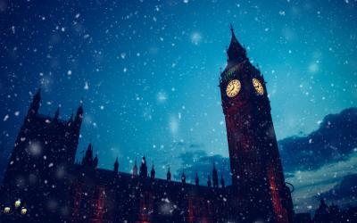 Big Ben in Winter