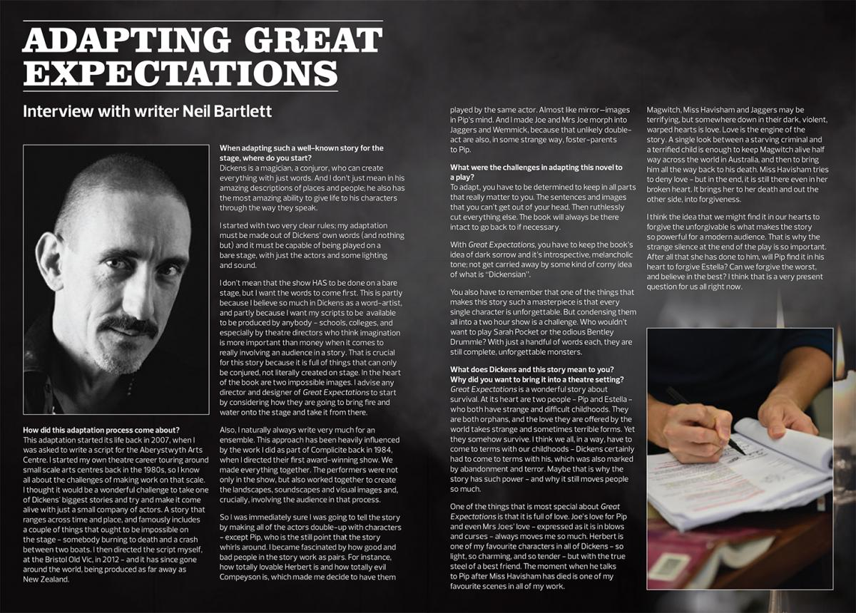 Screenshot of Great Expectations programme article available to download