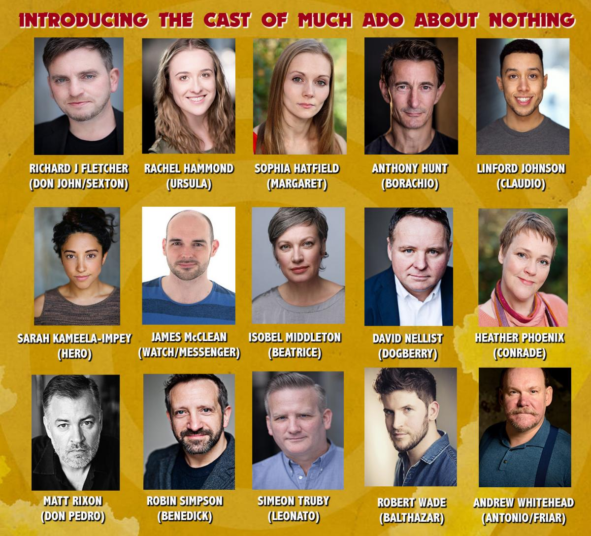Much Ado About Nothing Cast - Derby Theatre