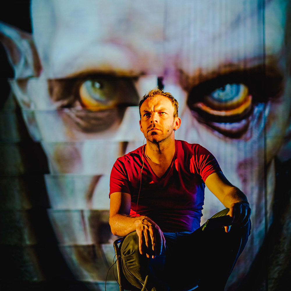 Matt Prendergast in rehearsals for Dracula The Untold Story - Photo by Ed Waring