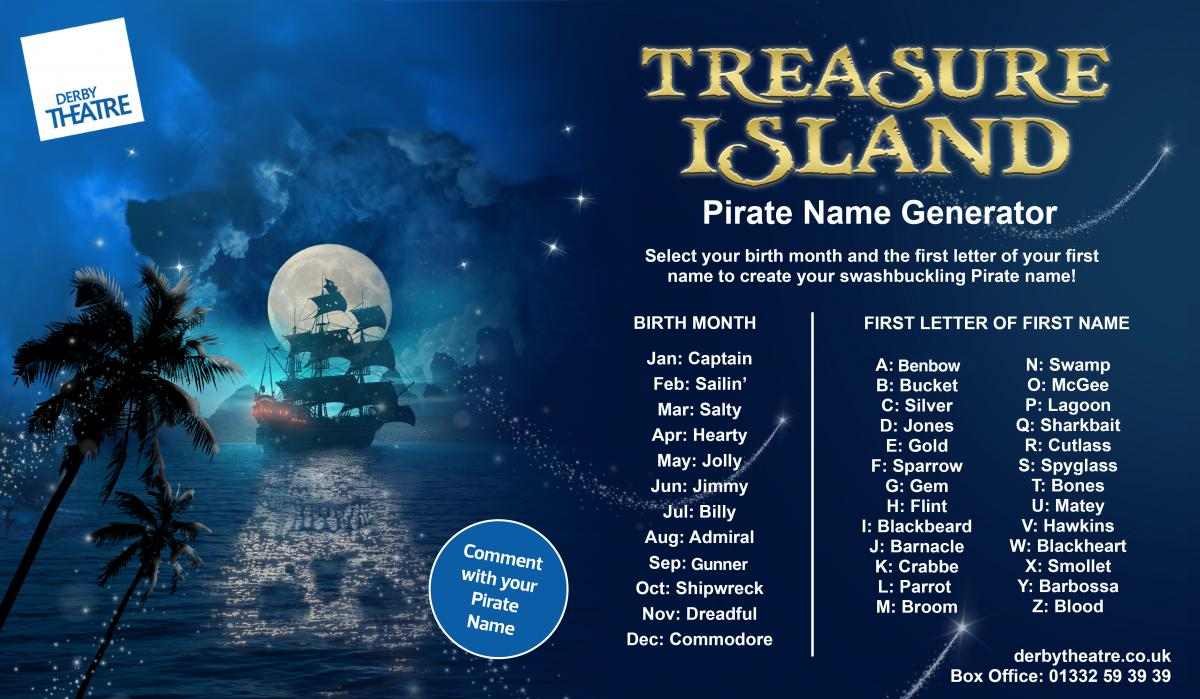 Treasure Island - Pirate Name Generator
