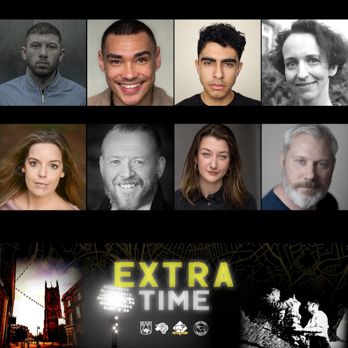 Extra Time cast announcement with headshots
