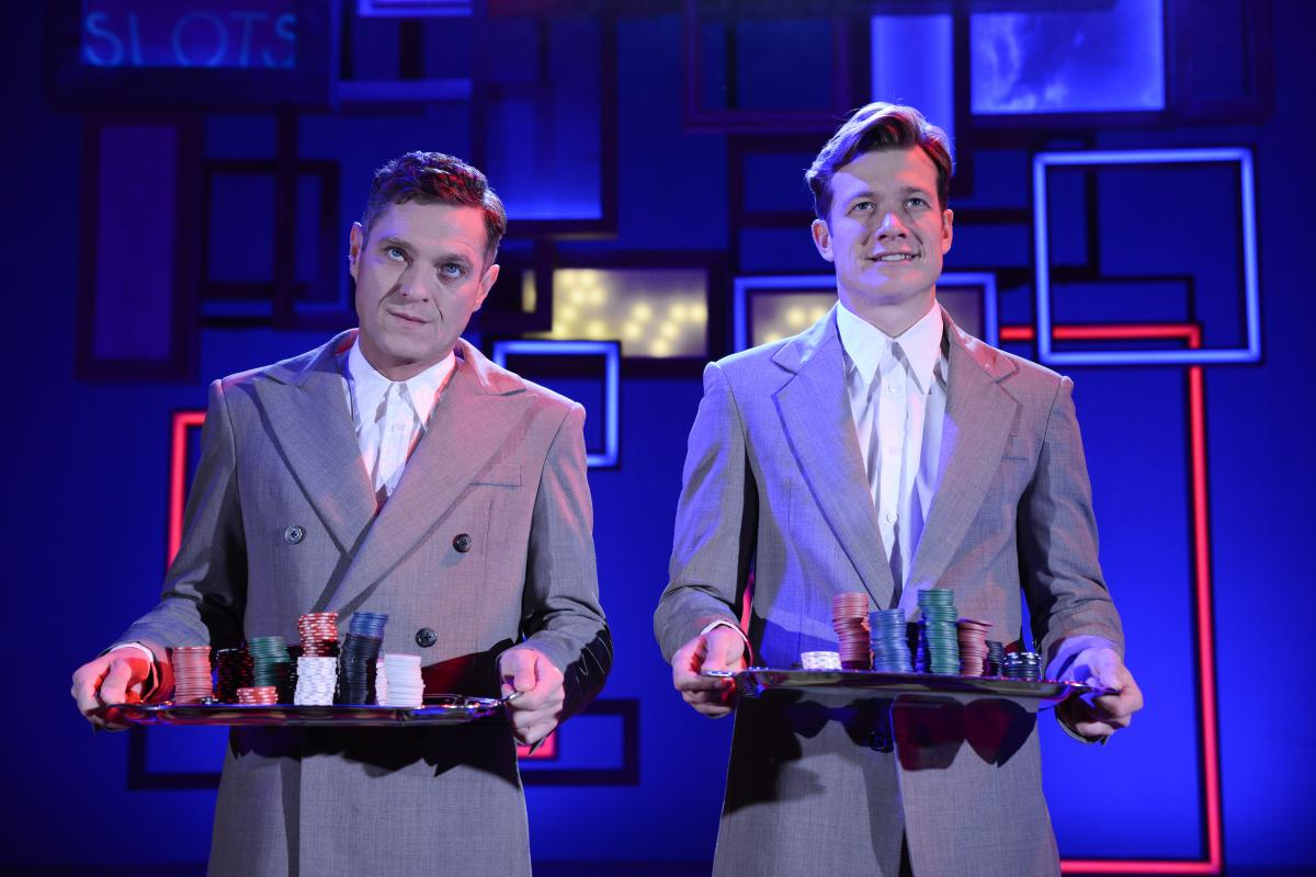 Mathew Horne (Raymond) & Ed Speleers (Charlie) - Rain Man UK Tour - Photo By Robert Day