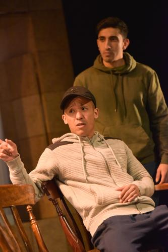 Terry Haywood as Craig & Adeel Ali as Mohamed - Photo by Robert Day