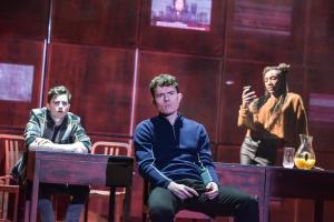 Billy Harris as Callum, Jack Condon as Jude & Kimisha Lewis as Minerva  - Photo by Robert Day