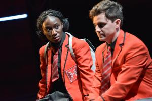Heather Agyepong as Sephy & Billy Harris as Callum - Photo by Robert Day