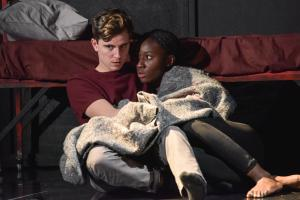 Billy Harris as Callum & Heather Agyepong as Sephy - Photo by Robert Day