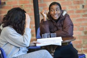 Rafia Hussain (Assistant Director & Producer) & Taja Christian - Photo by Robert Day