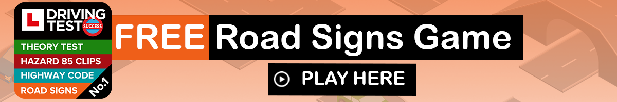 theory test practice - road signs game