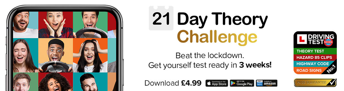 21 Day Theory Challenge - Driving Theory Test 4 in 1 Kit