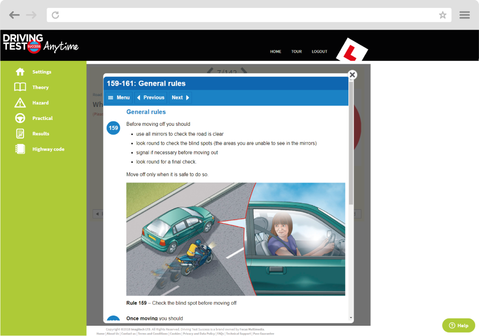 Hazard perception screen shot