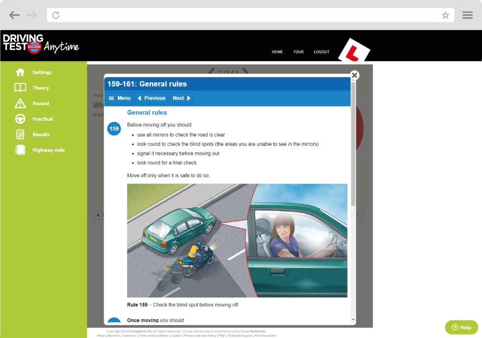 Hazard perception screen shot