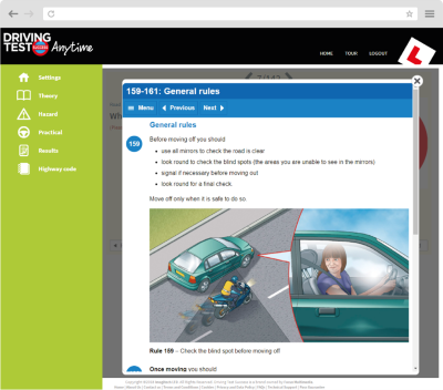 driving theory test anytime online training