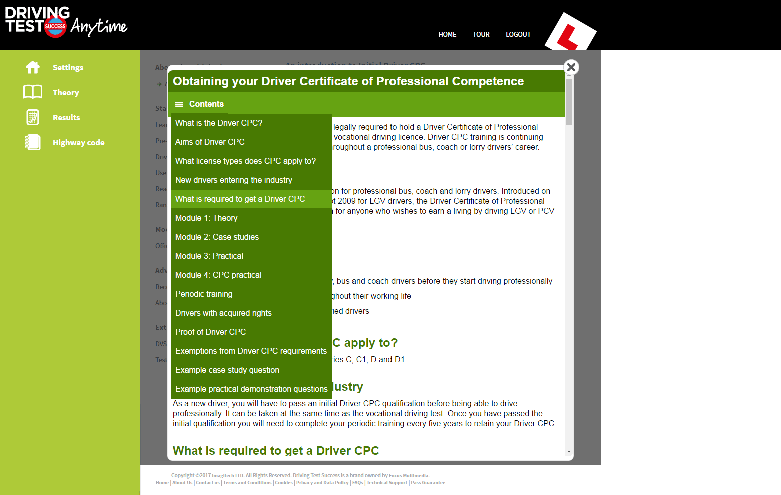 obtaining the driver CPC