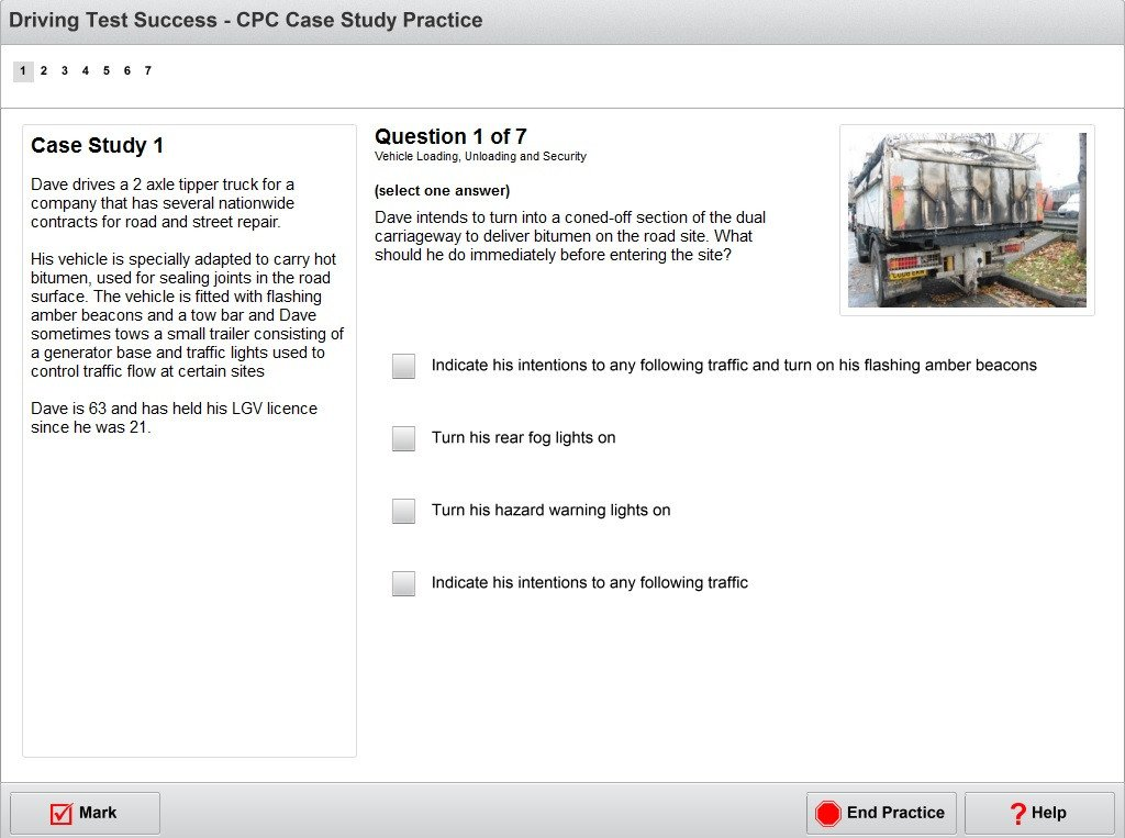 LGV/PCV CPC case study practice screenshot