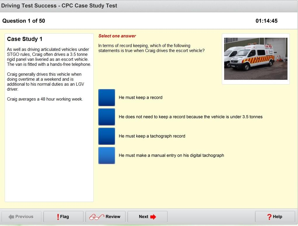 LGV/PCV CPC case study test screenshot