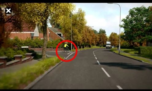Free hazard perception test example