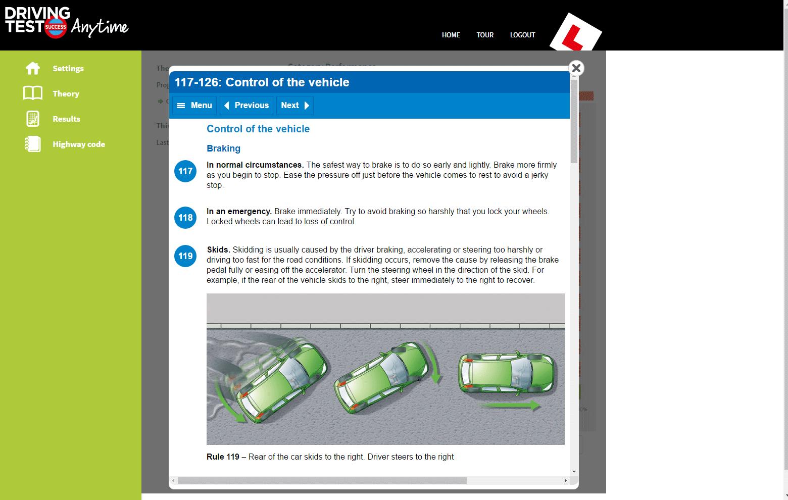 controlling a car when braking