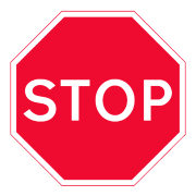 t junction stop sign