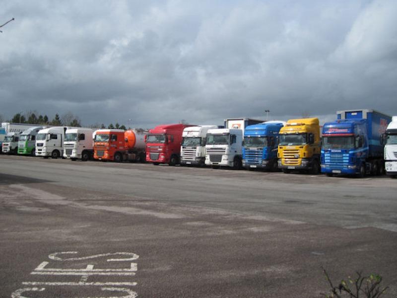 Parked lorries