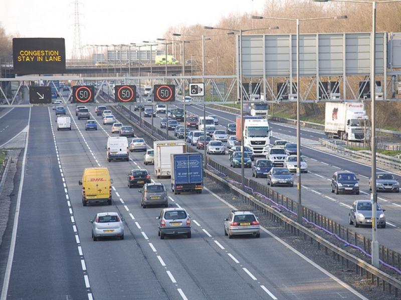 Busy UK Motorway